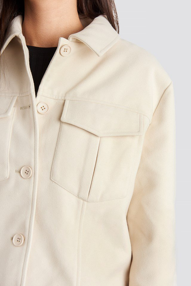 Big Pocket Short Jacket Offwhite