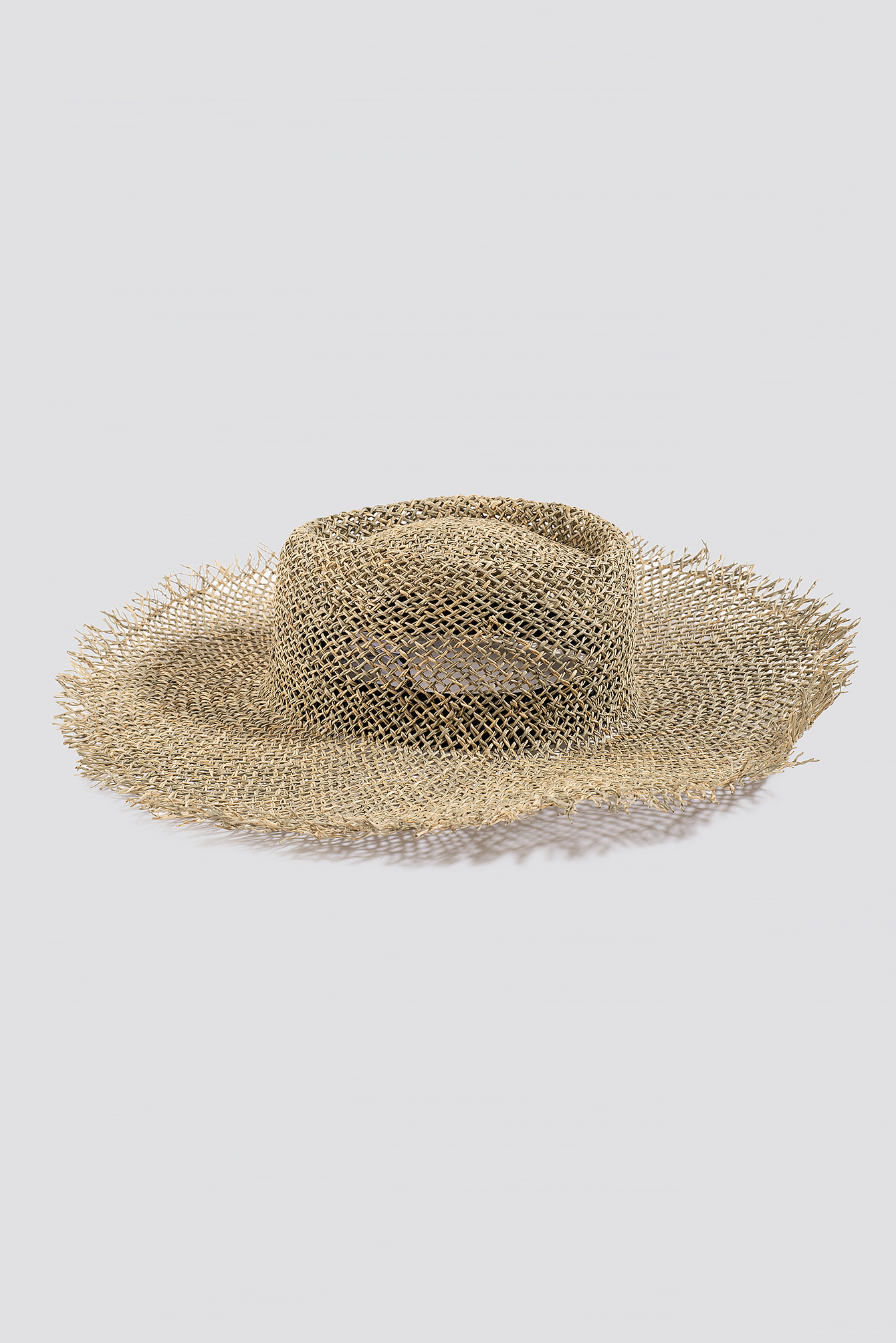 Big Raw Edge Straw Hat NA-KD.COM