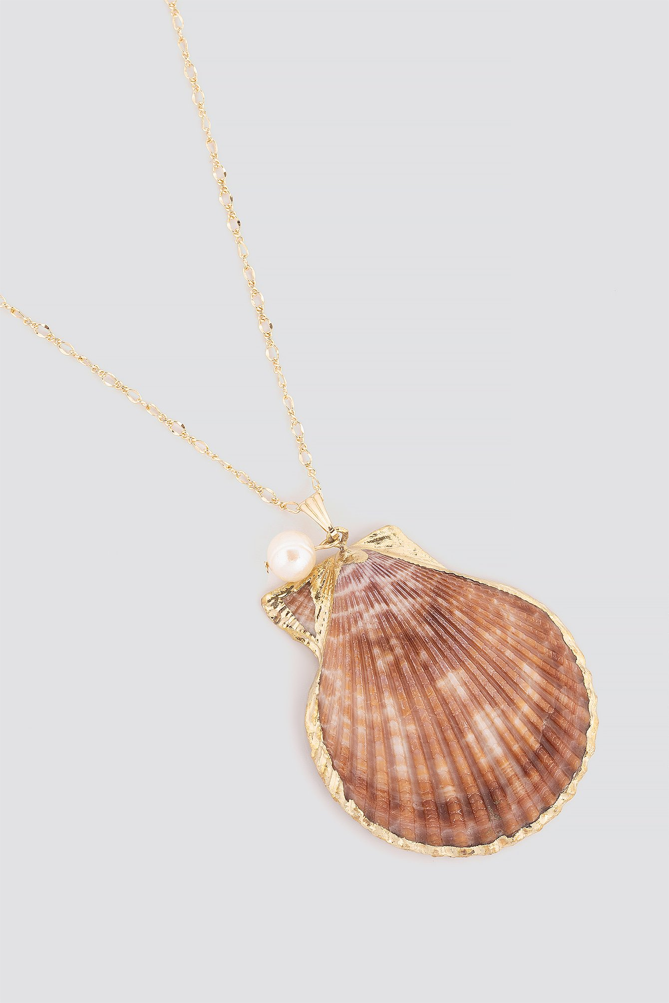 Big Real Shell Necklace NA-KD.COM
