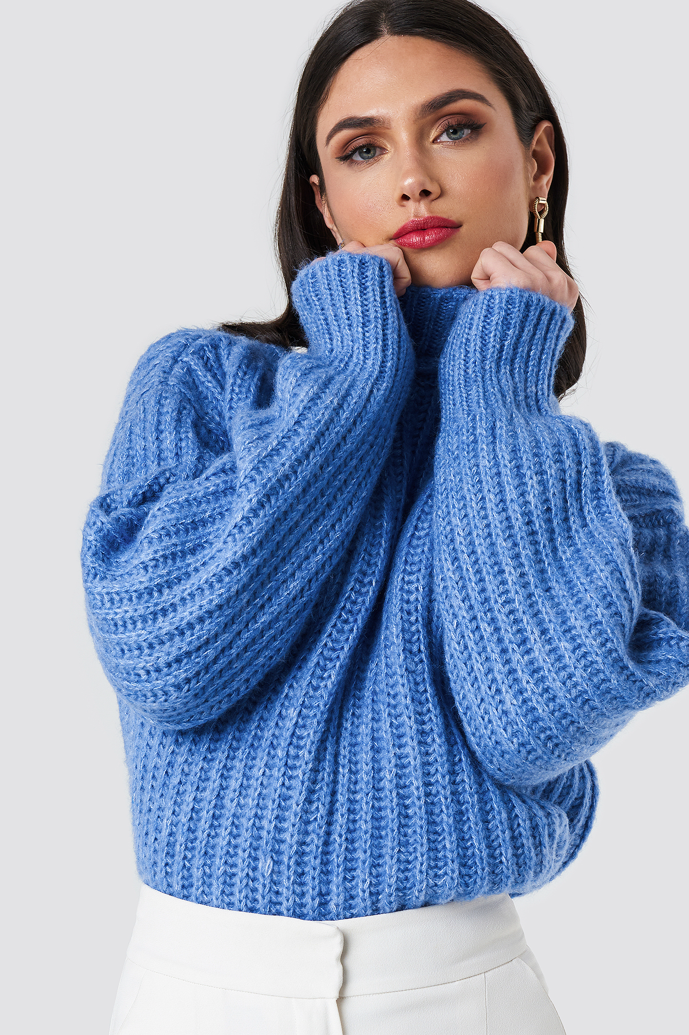 Big Ribbed Oversize Knitted Sweater NA-KD.COM