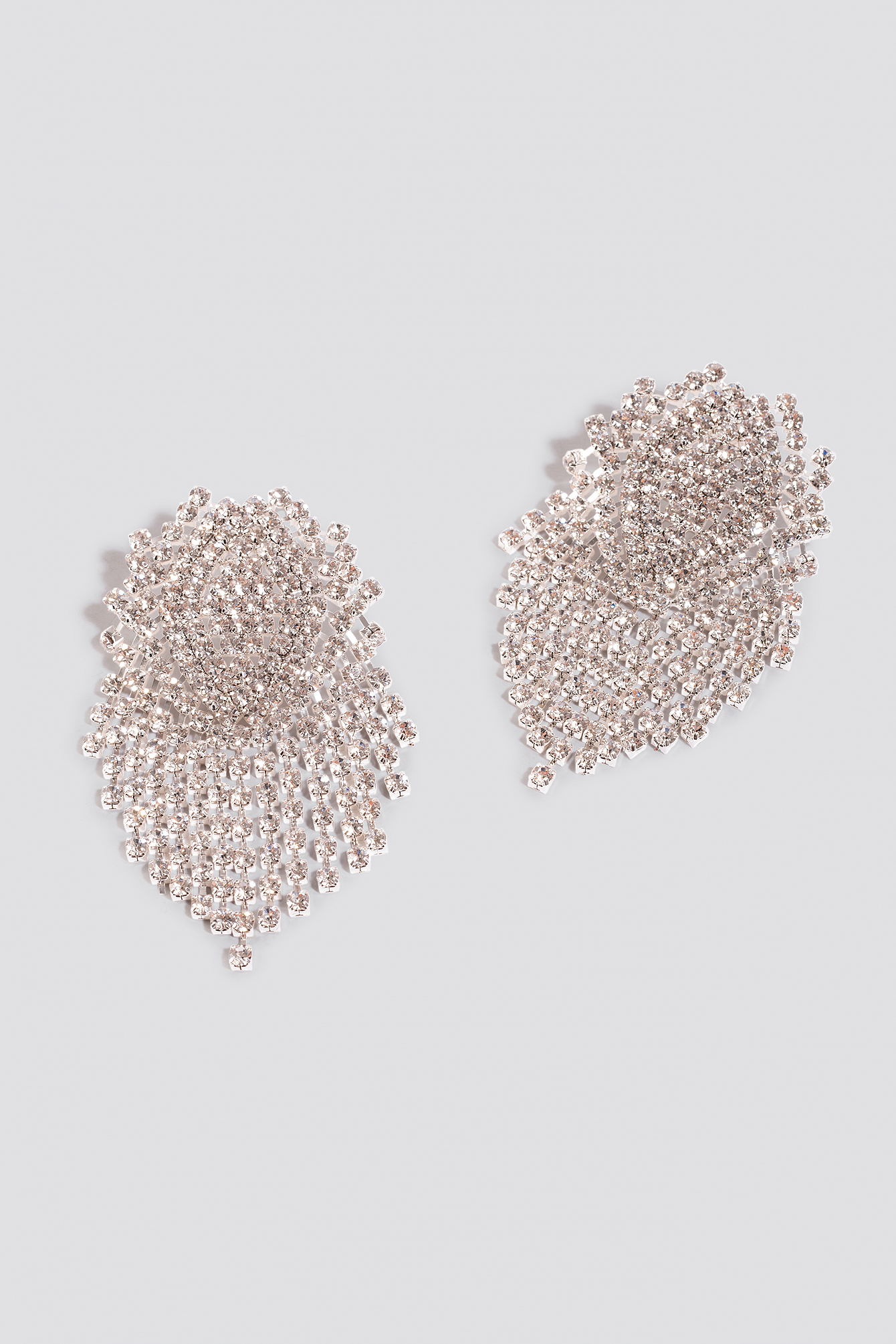 Big Round Rhinestone Earrings NA-KD.COM