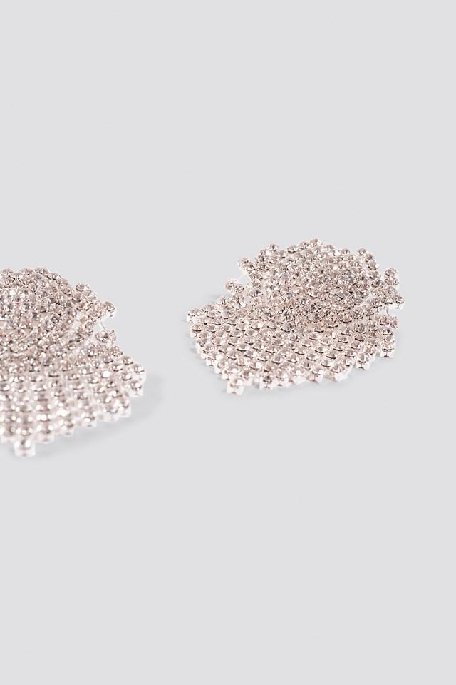 Big Round Rhinestone Earrings NA-KD.COM