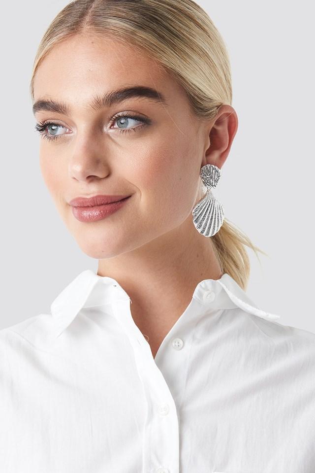 Big Shell Earrings NA-KD Accessories