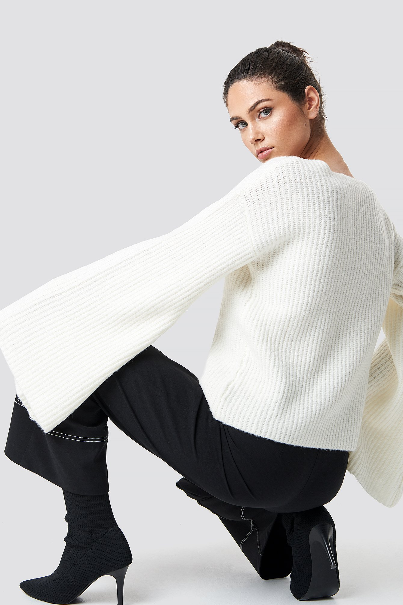 Big Sleeve Knitted Sweater NA-KD.COM