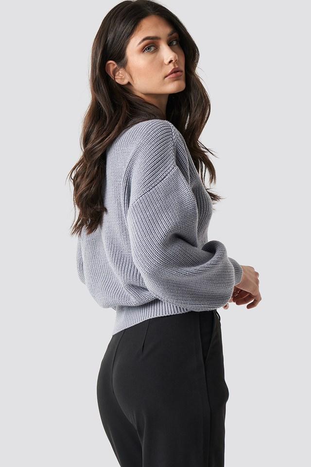 Big Sleeve Knitted Sweater NA-KD.COM