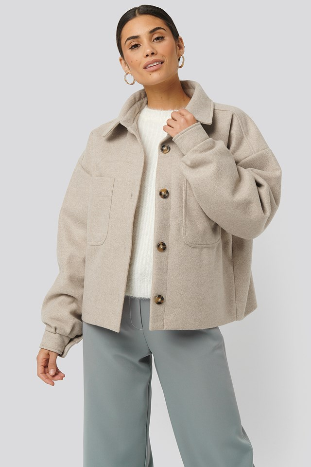 Big Sleeve Oversized Jacket Beige