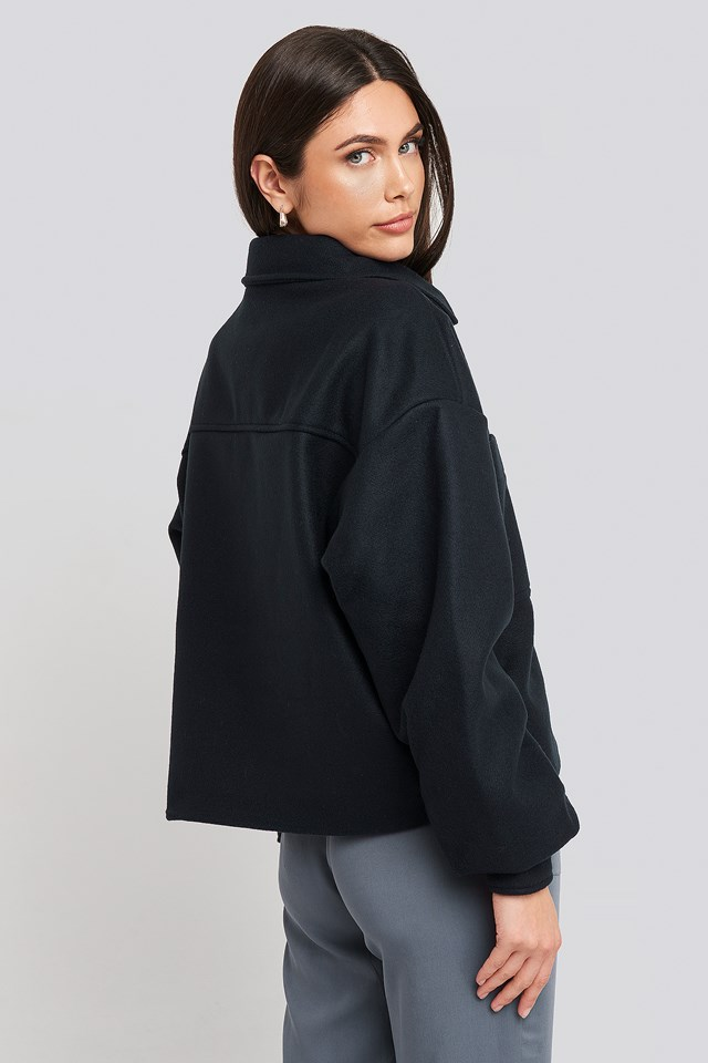 Big Sleeve Oversized Jacket Navy