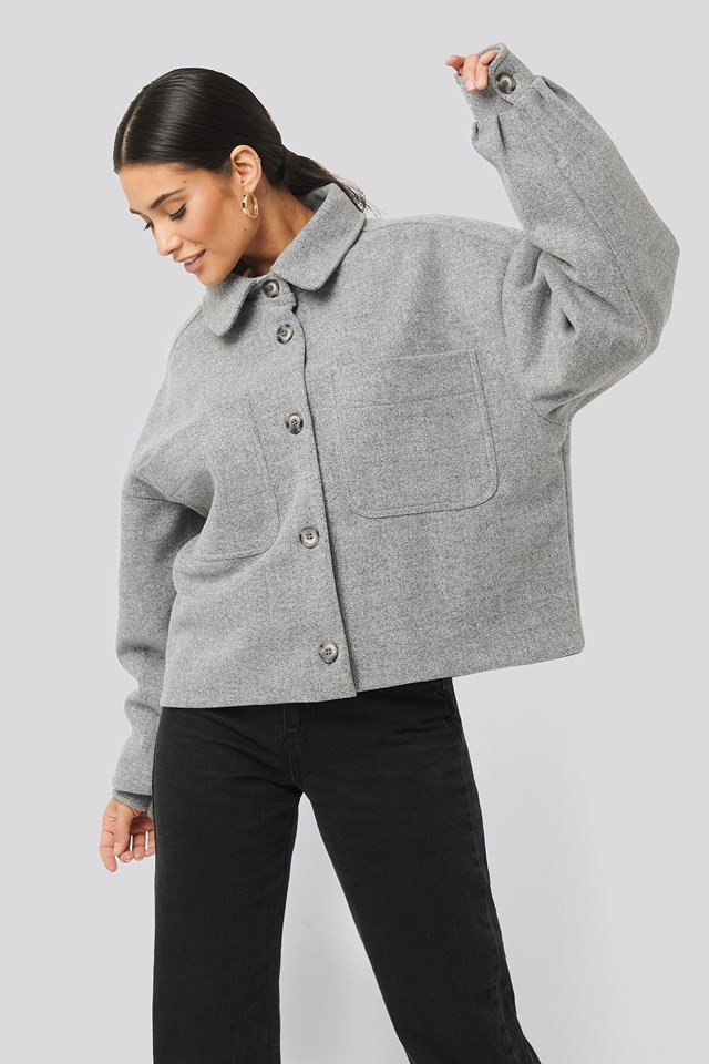 Big Sleeve Oversized Jacket Grey Melange