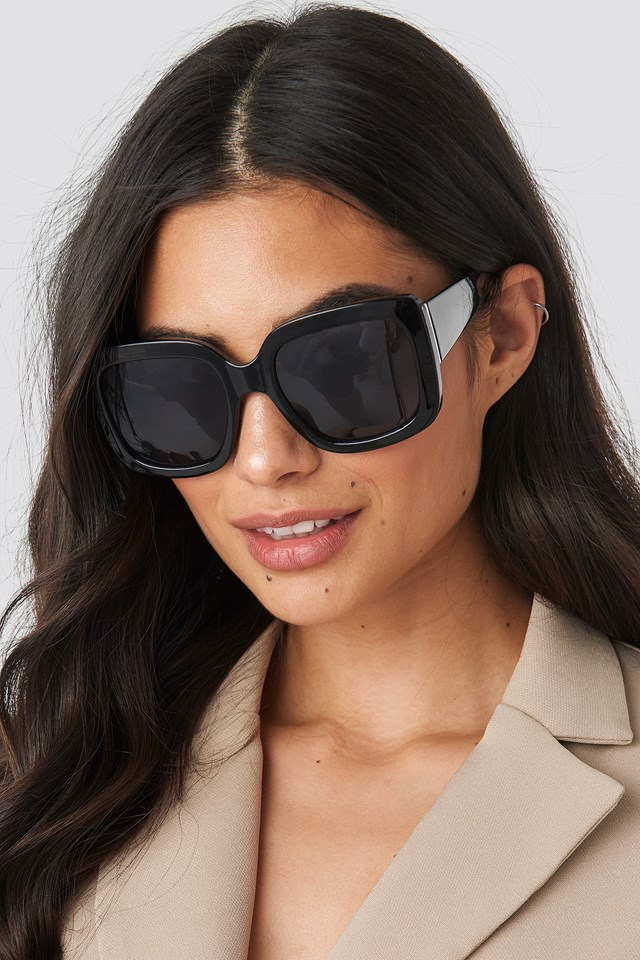 Big Squared Sunglasses Black