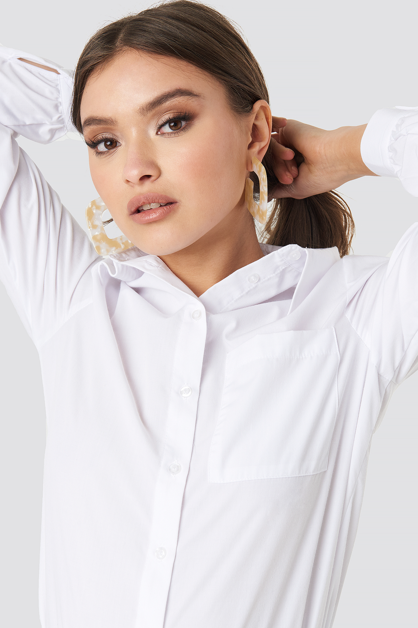 Big Squared Resin Earrings NA-KD.COM
