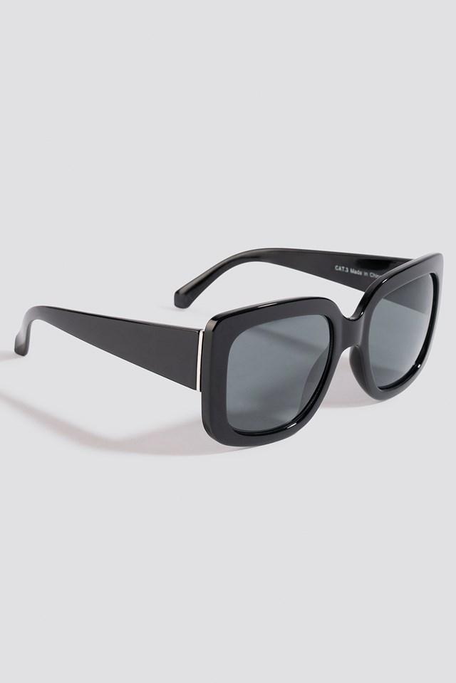 Big Squared Sunglasses Black