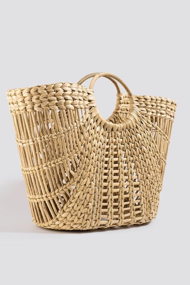 Big Strawy Basket Bag Natural