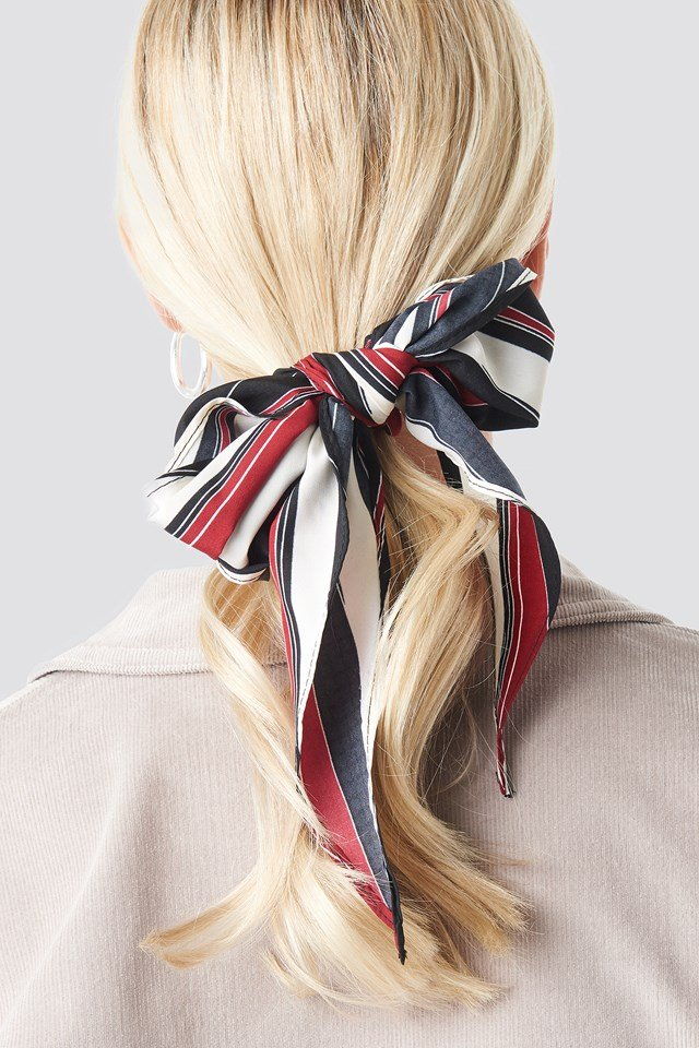 Big Stripes Hair Scarf NA-KD Accessories