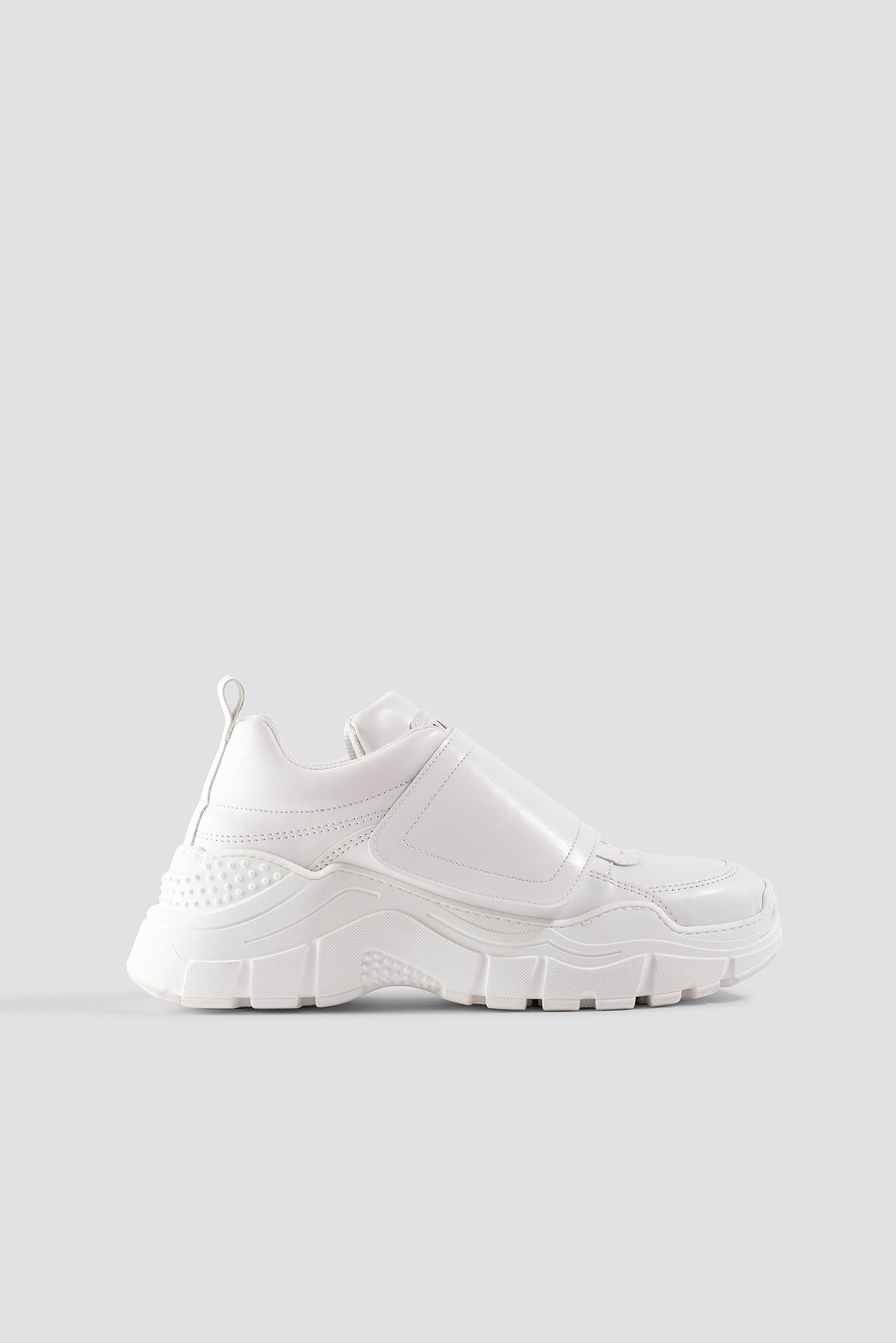 White Big Velcro Chunky Trainers