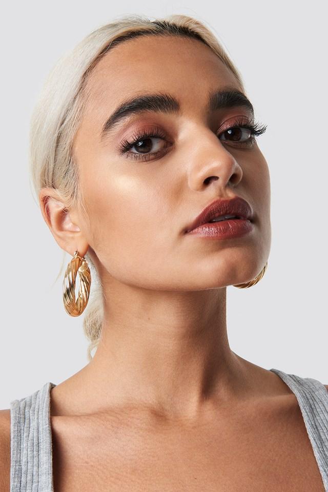 Big Wavy Hoop Earrings NA-KD Accessories
