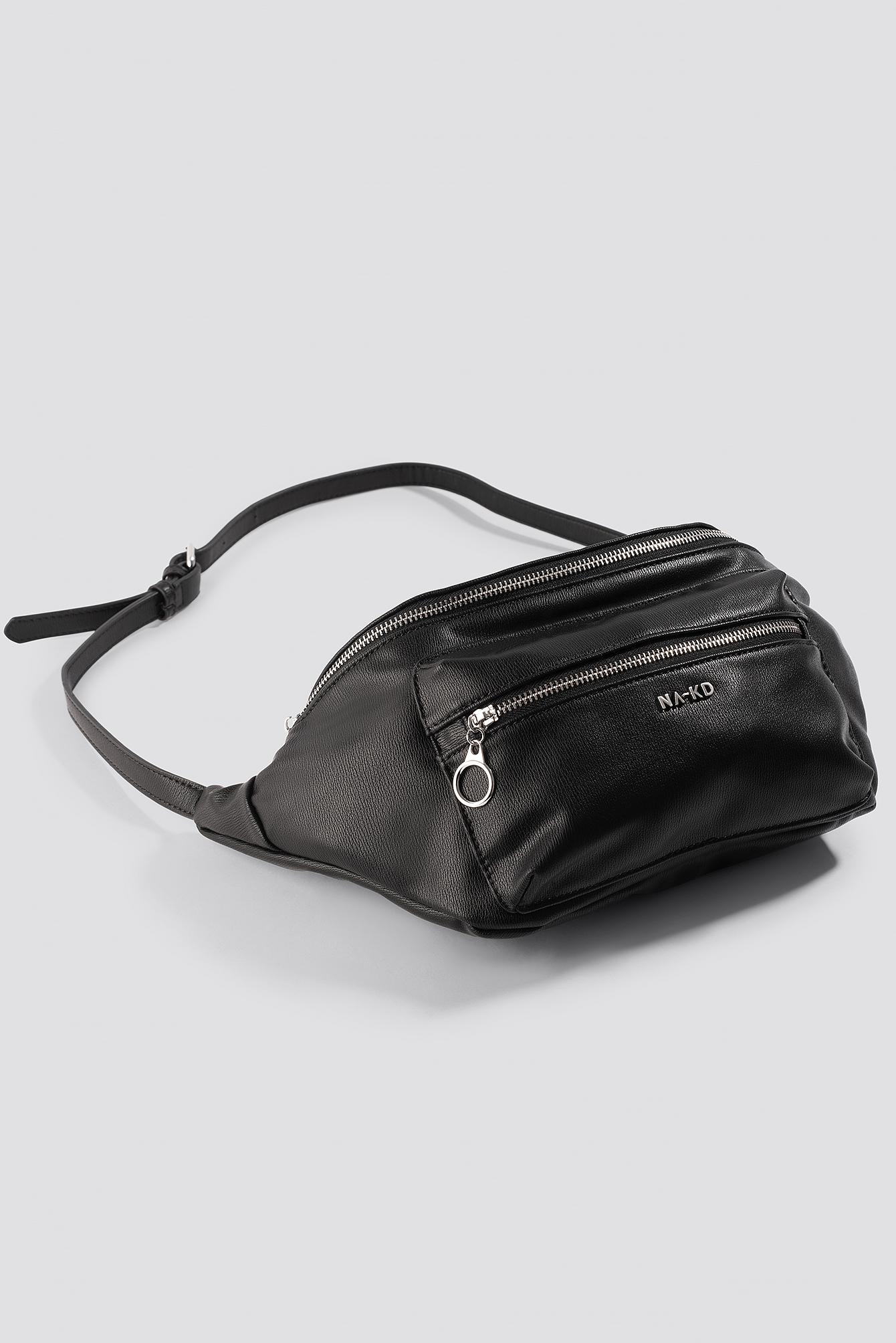 na-kd accessories -  Big Zipper Fanny Pack - Black