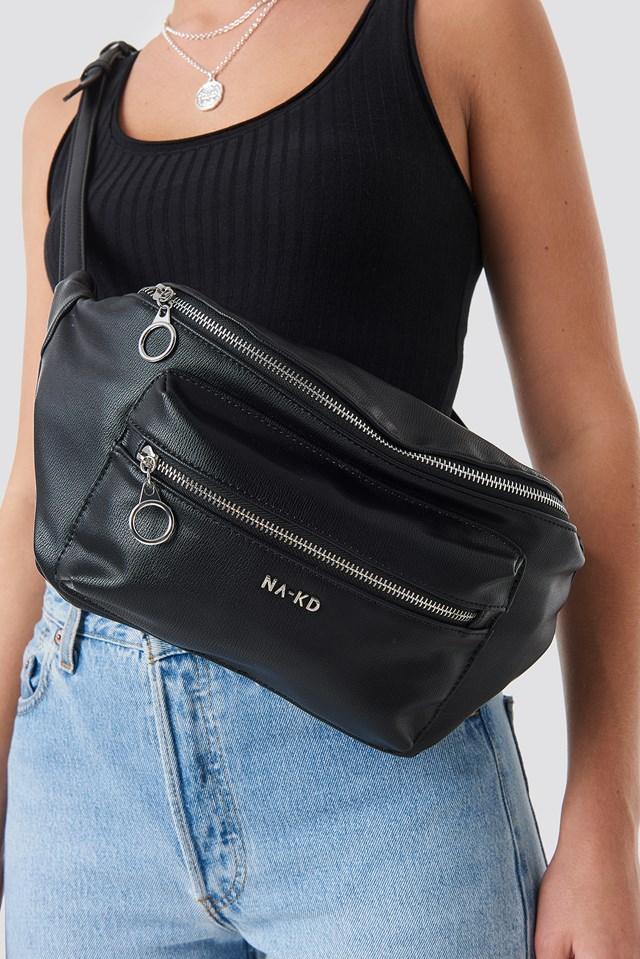 Big Zipper Fanny Pack Black