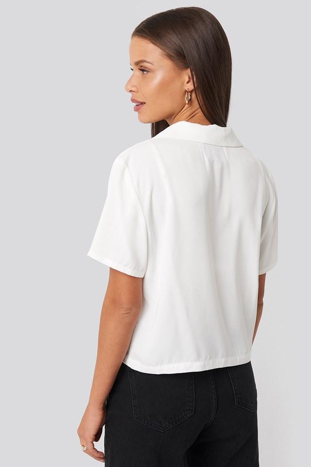 Blazer Buttoned Top White