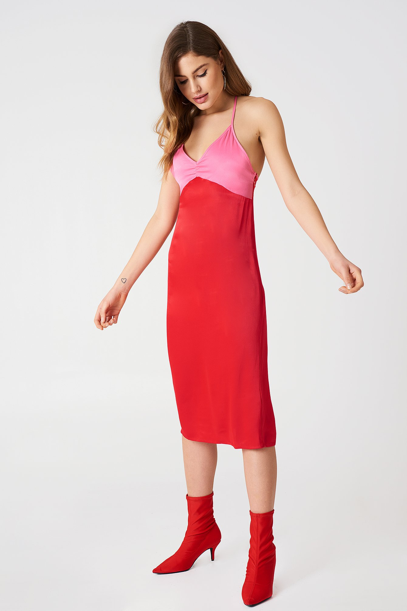 Block Colored Slip Dress NA-KD.COM