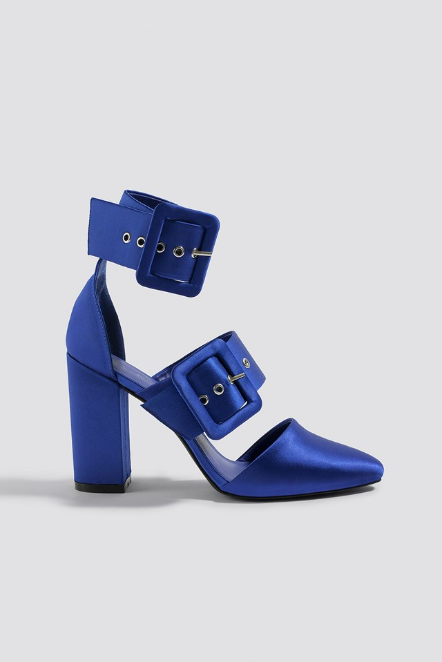 Multi Buckle Block Heels NA-KD Shoes