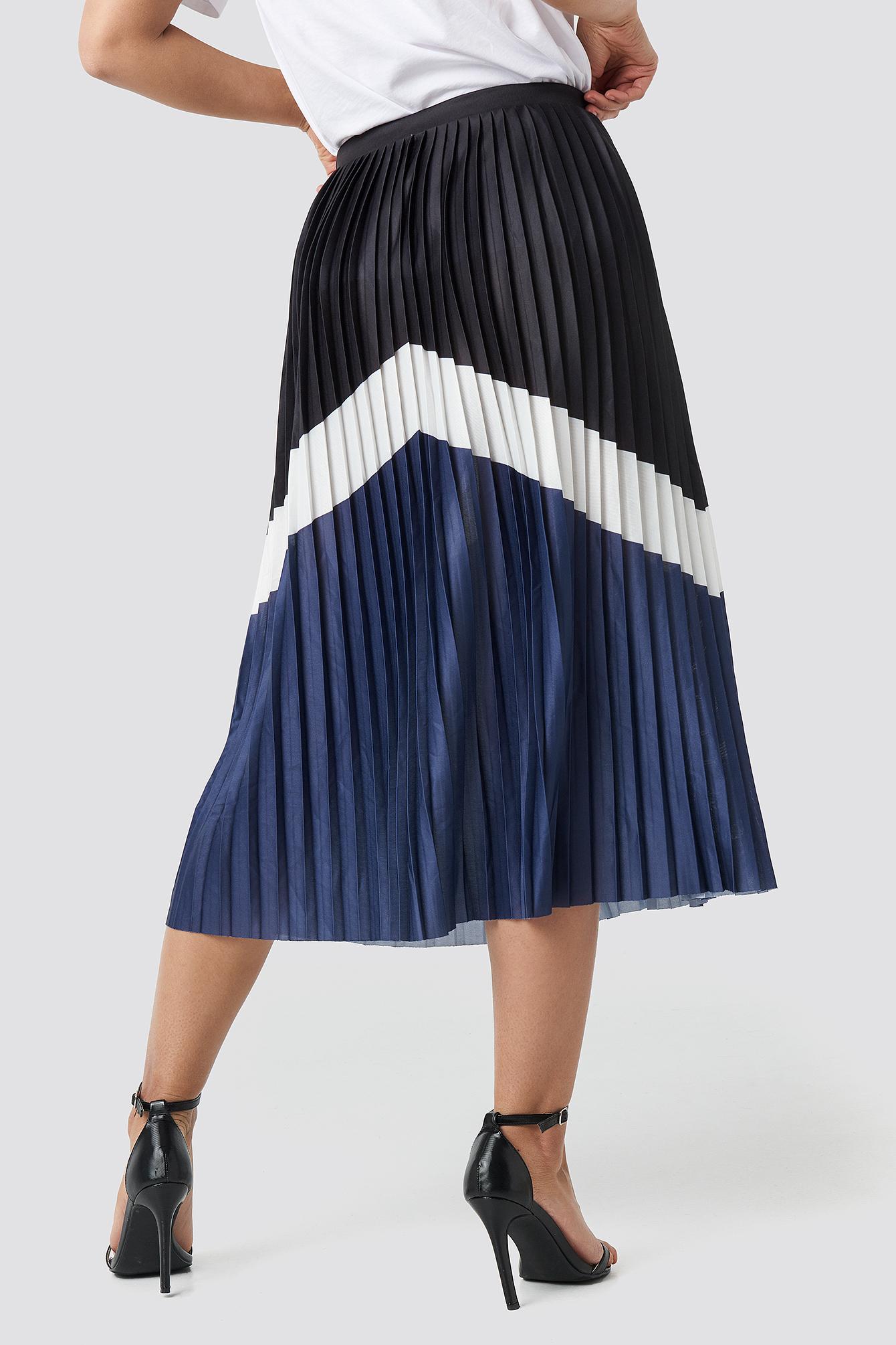 Blocked Midi Skirt NA-KD.COM