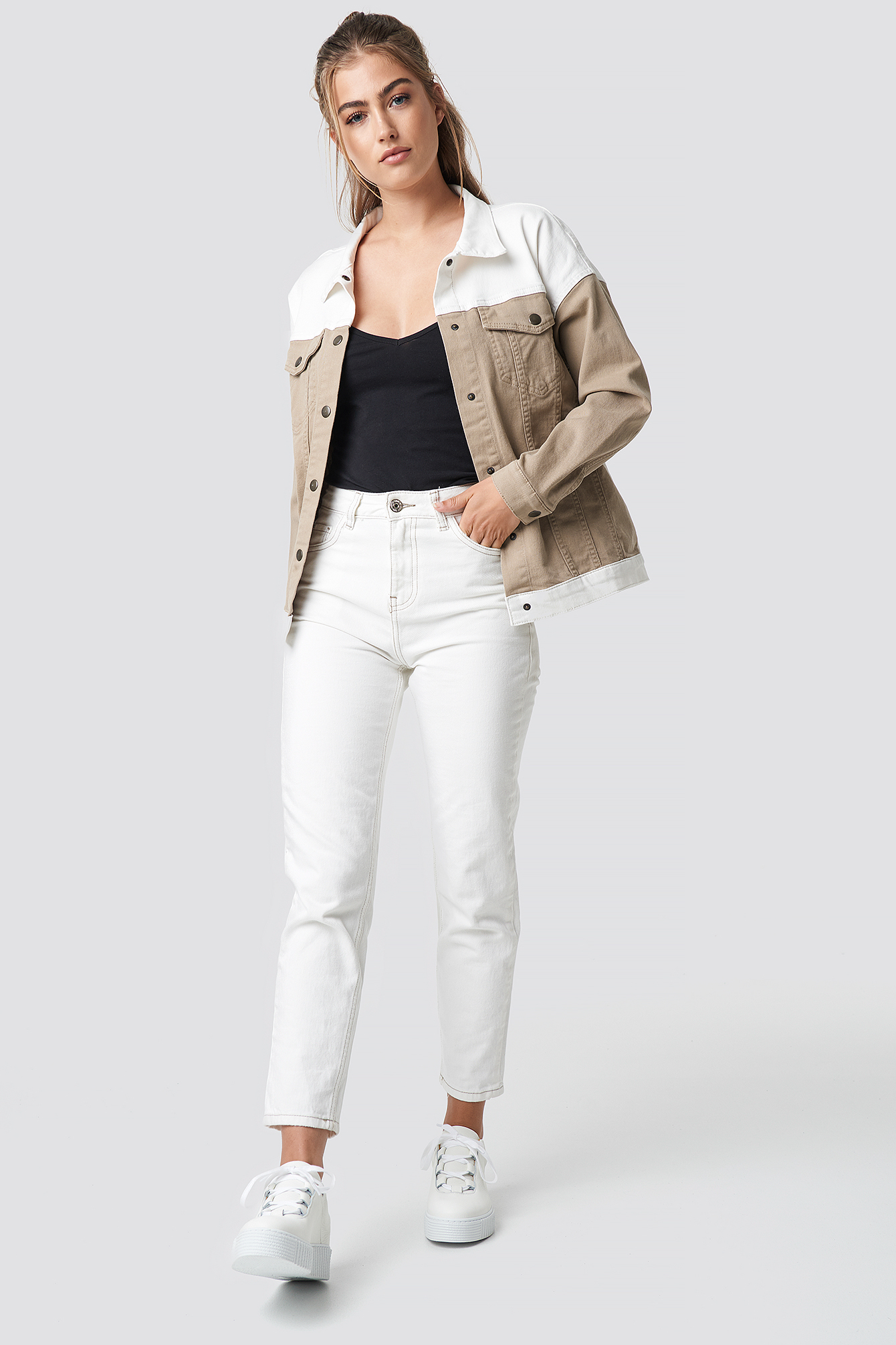 Blocking Color Denim Jacket NA-KD.COM