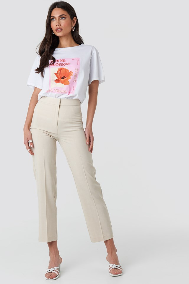 Blossom Oversized T-shirt Optical White