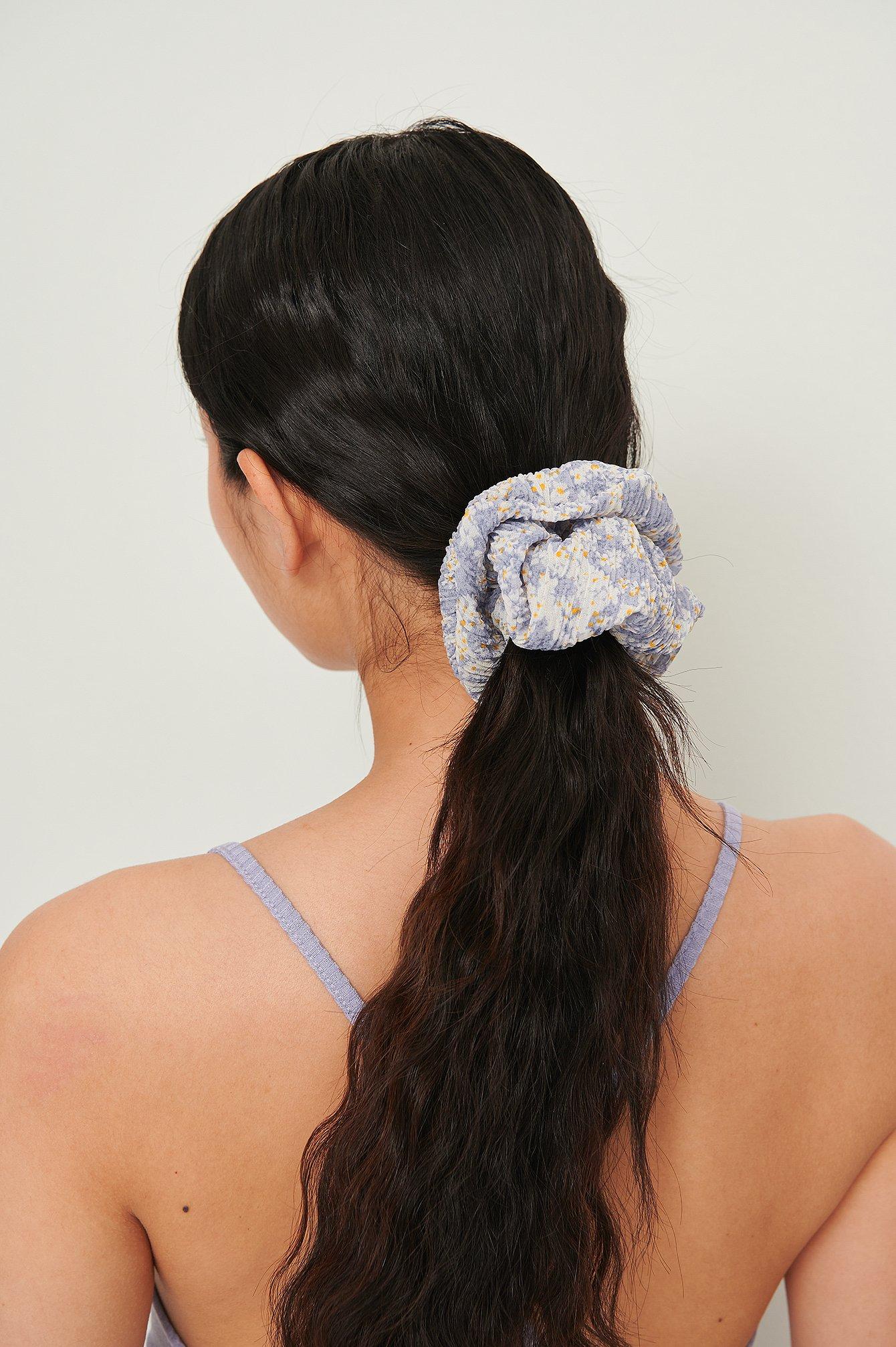na-kd accessories -  Großes Scrunchie - Blue
