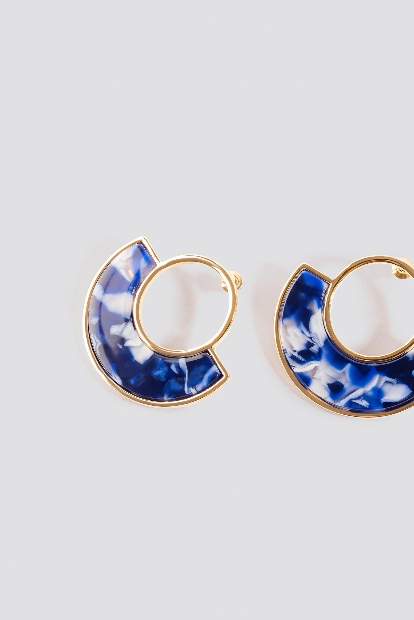 Blue Marble Round Earstuds NA-KD.COM