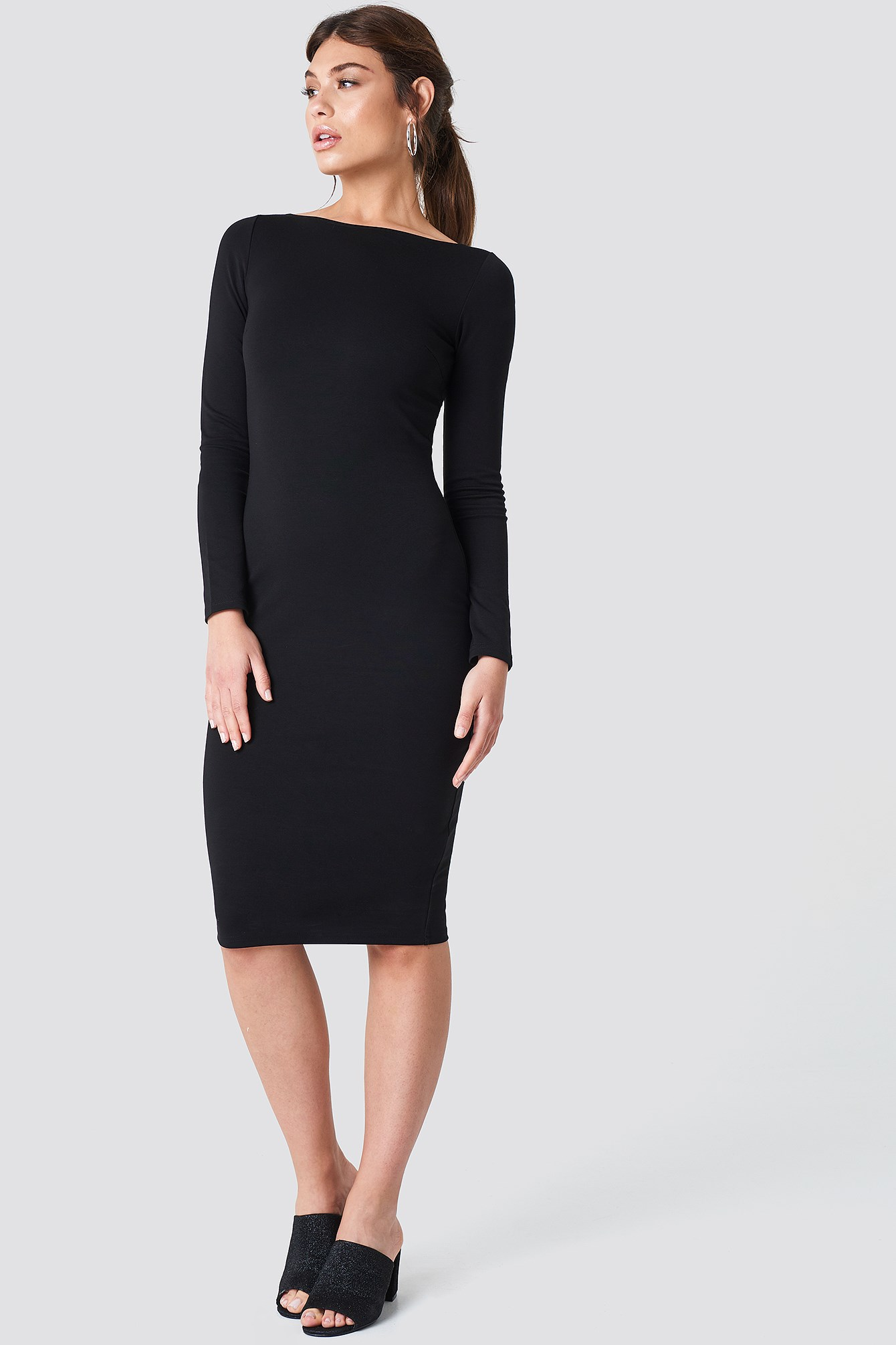 Boat Neck Dress NA-KD.COM