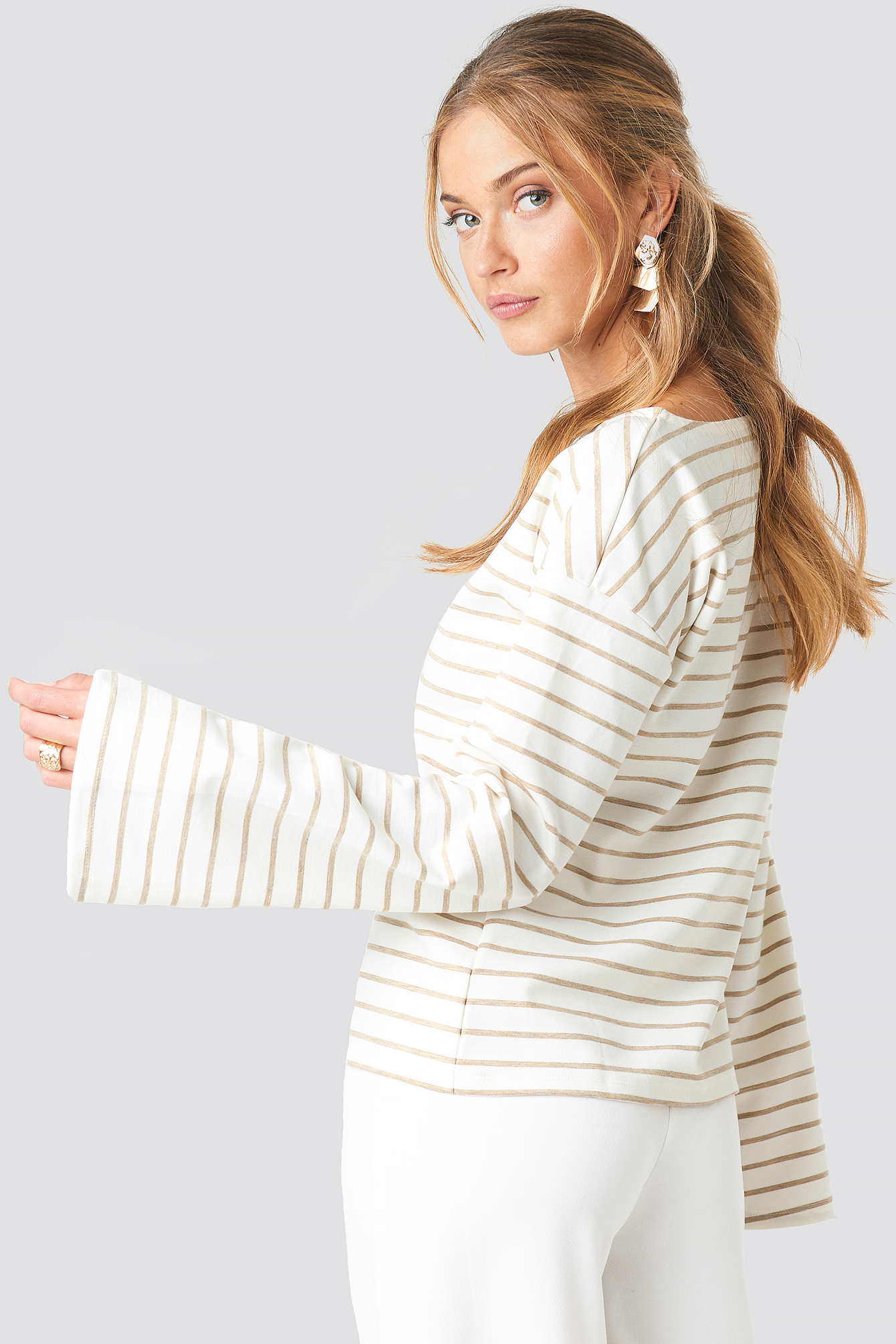 Boat Neck Striped Top NA-KD.COM