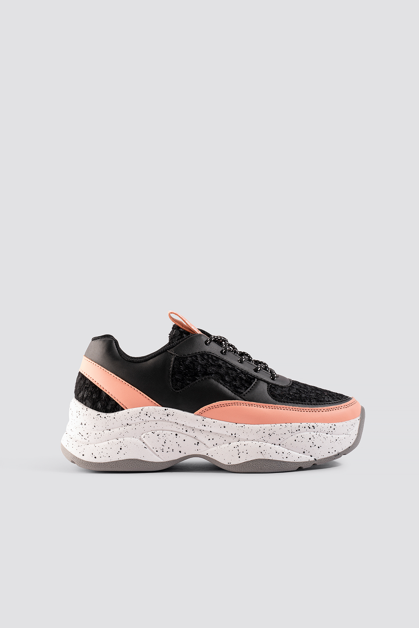 na-kd shoes -  Bolt Sneaker - Black,Pink,Multicolor