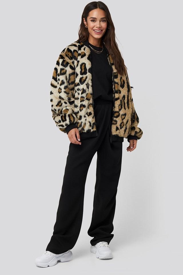 Bomber Faux Fur Leo Jacket Leopard