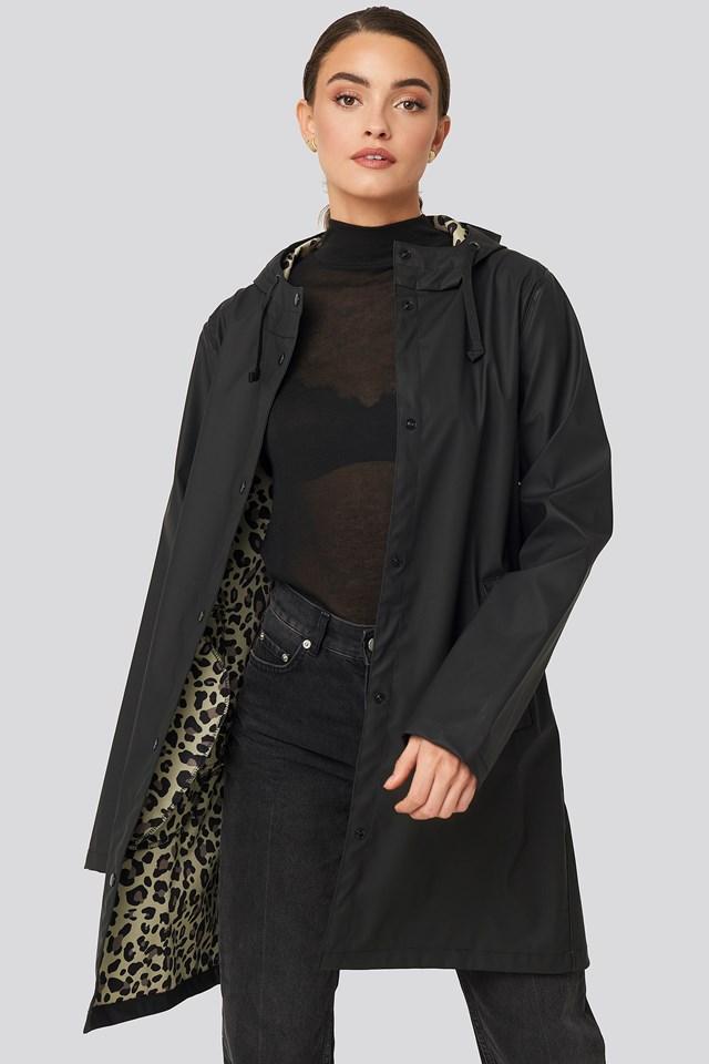 Bonded Leo Rain Coat Black
