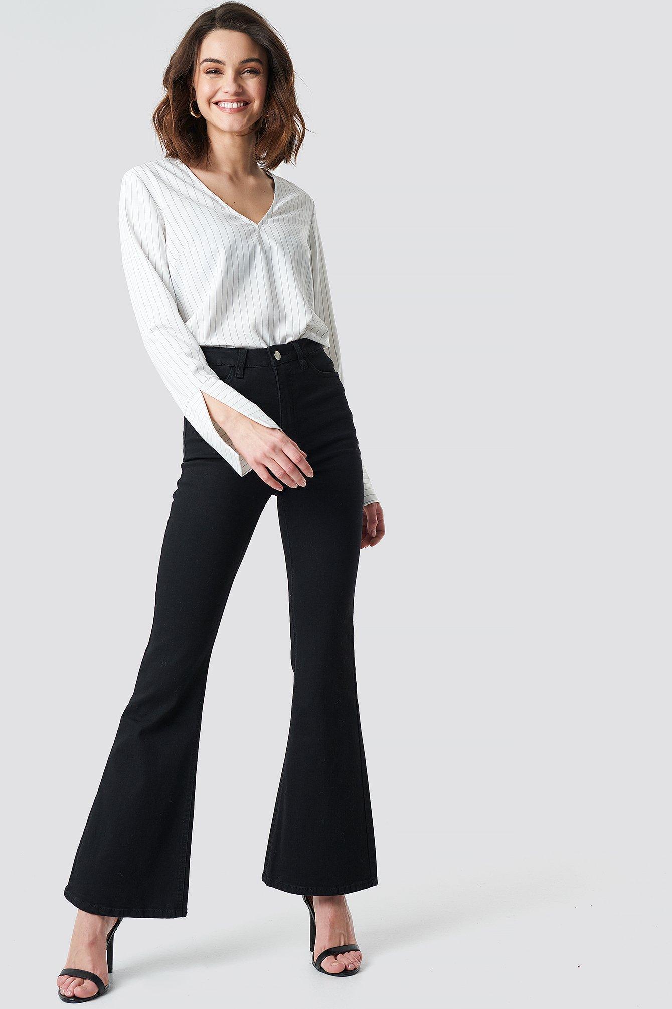 na-kd -  Bootcut Jeans - Black