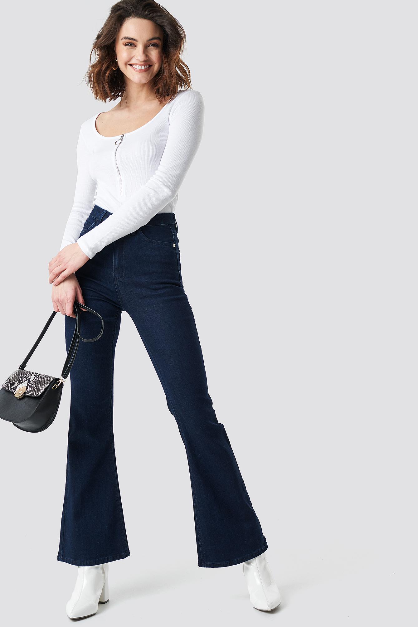na-kd -  Bootcut Jeans - Blue