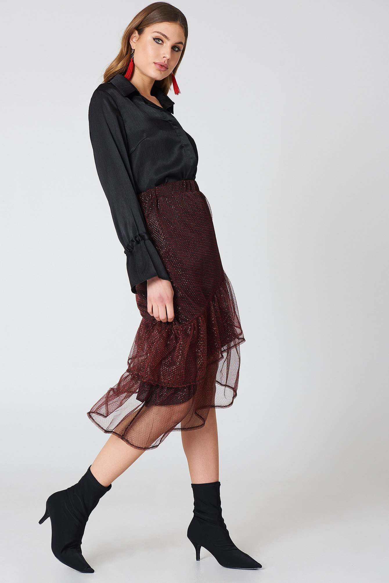 Bottom Frill Glitter Skirt NA-KD.COM