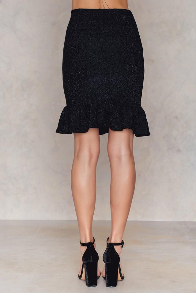 Bottom Frill Skirt Black