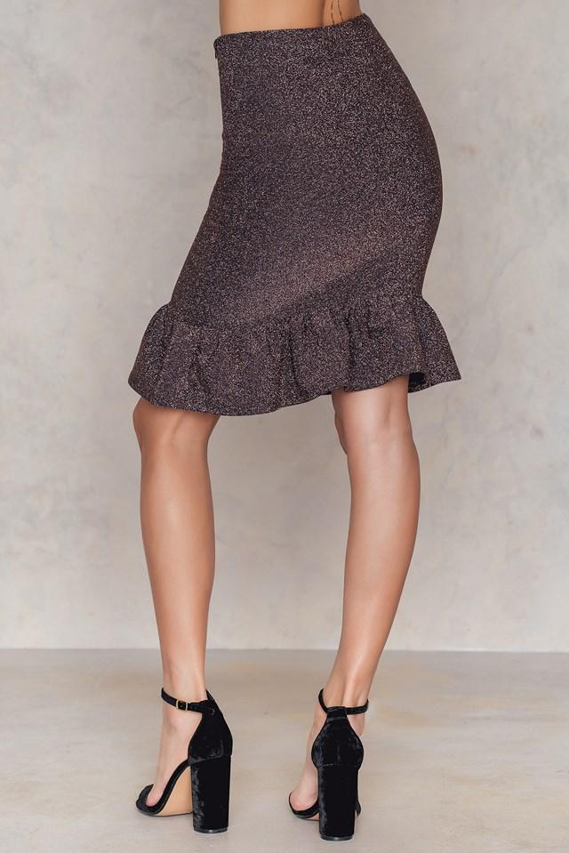 Bottom Frill Skirt Pink