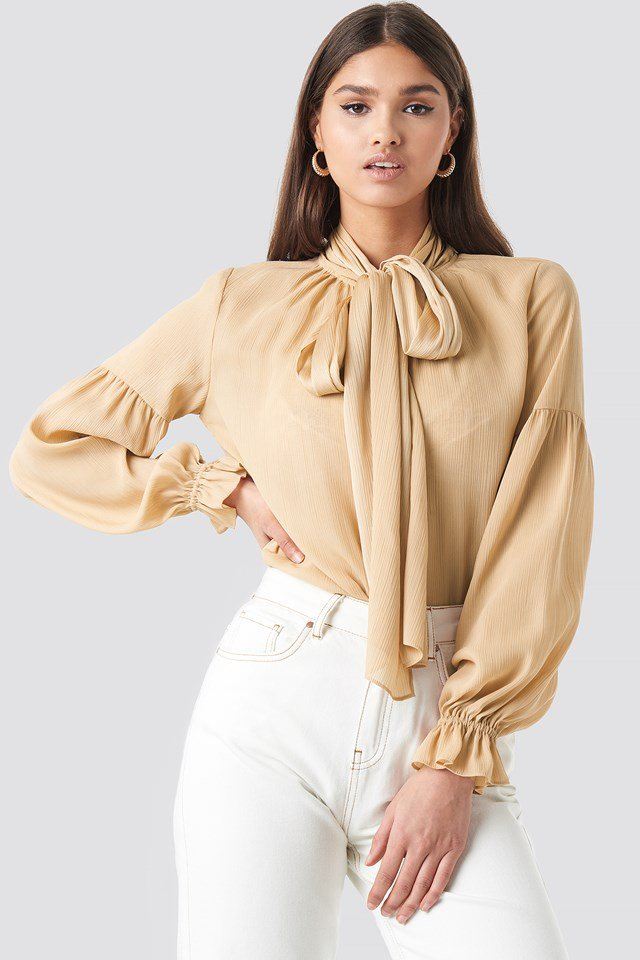 Bow Tie Blouse NA-KD Classic