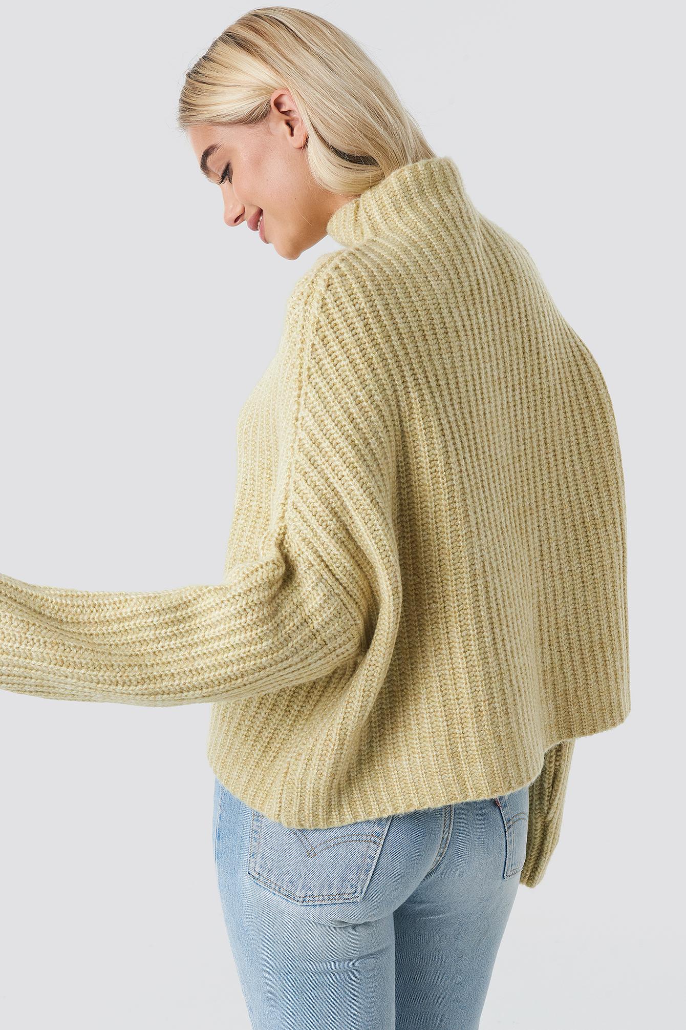 Boxy High Neck Knitted Sweater NA-KD.COM