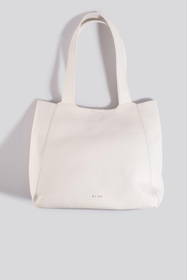 Boxy Tote Bag Offwhite