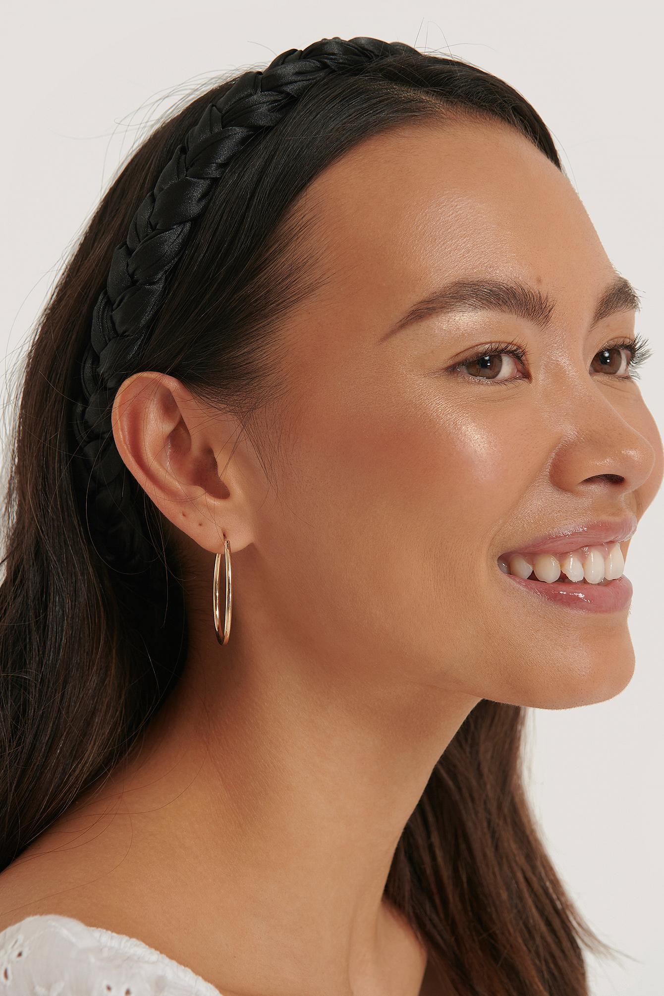 na-kd accessories -  Braided Hairband - Black