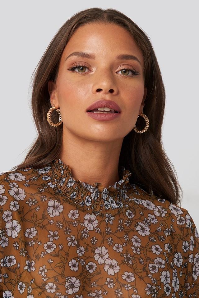 Braided Wide Hoop Earrings NA-KD Accessories