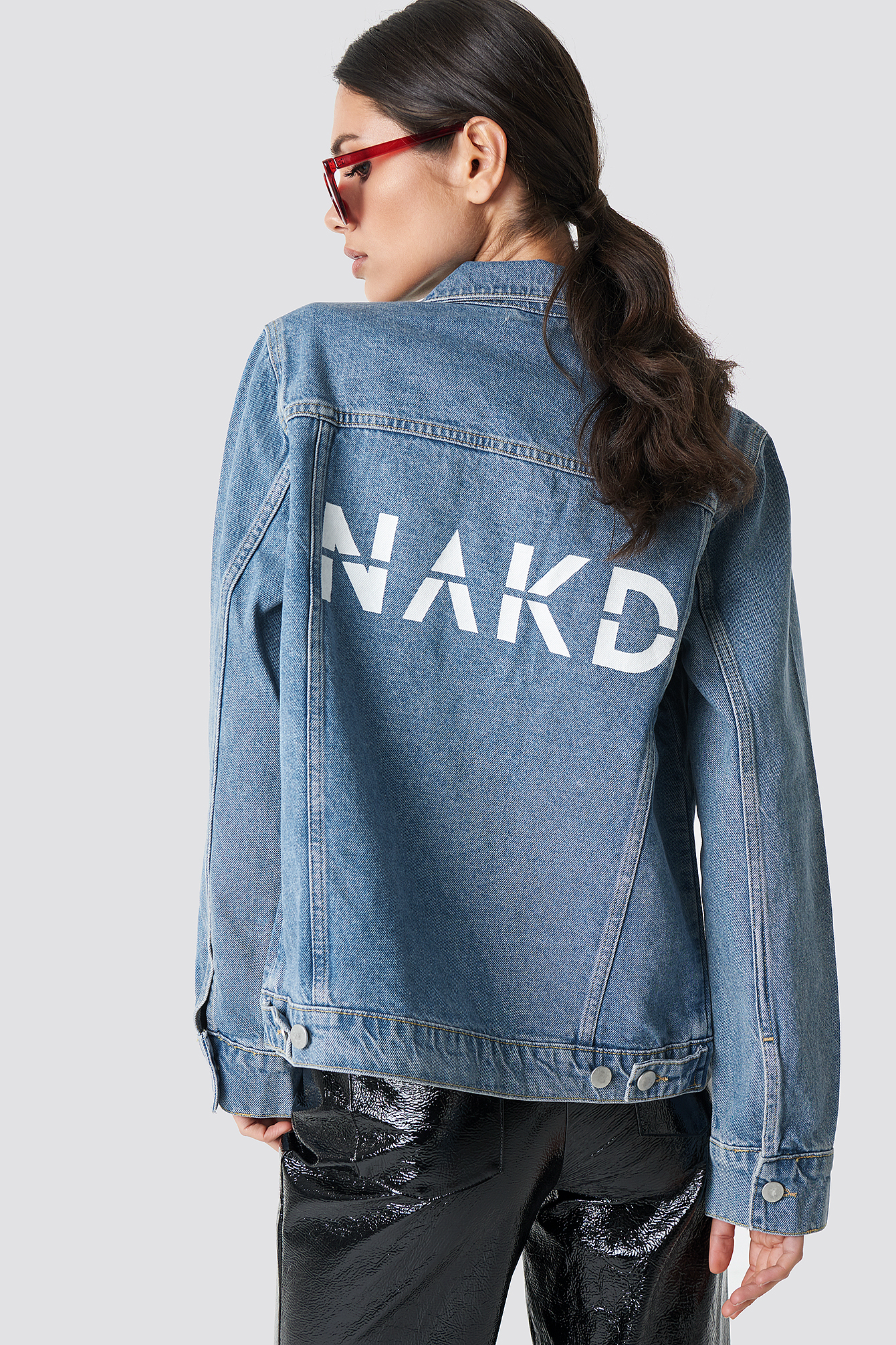 Branded Denim Jacket NA-KD.COM