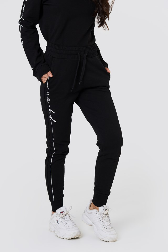Branded Sweatpants Black