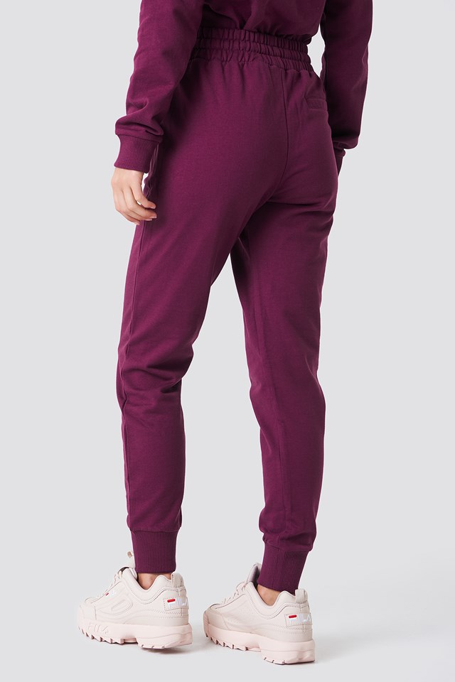 Branded Sweatpants Bordeaux