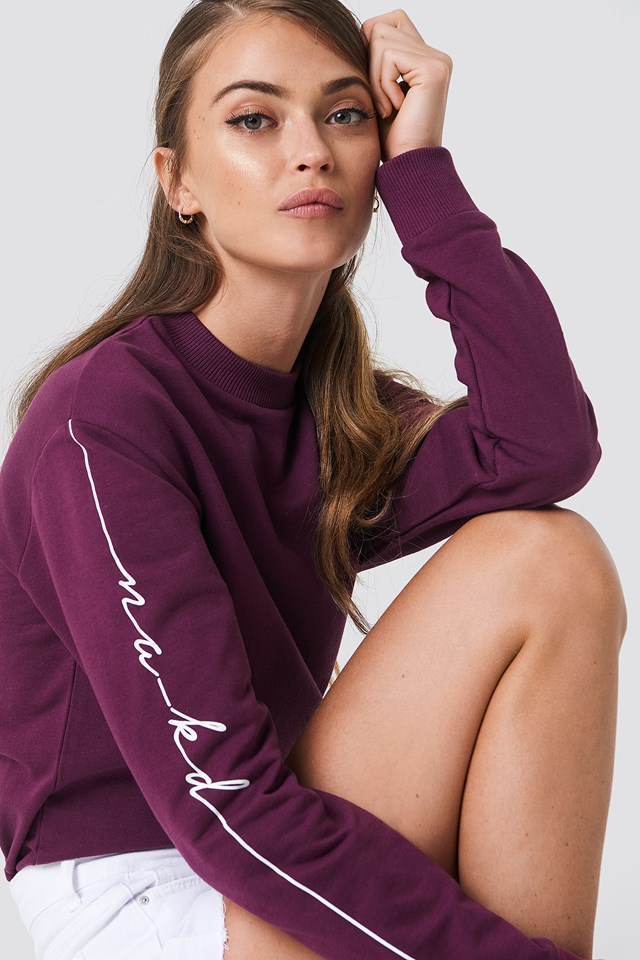 Branded Sweatshirt Bordeaux