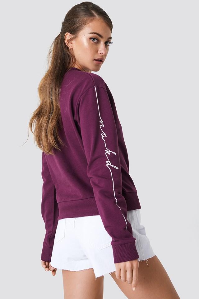 Branded Sweatshirt Bordeaux