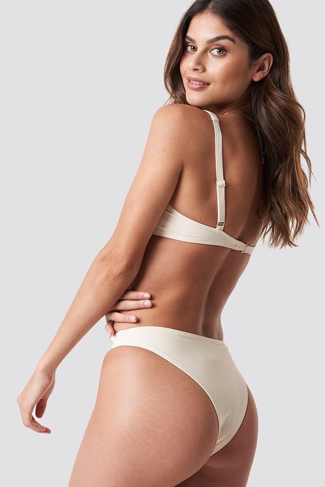 Bridge Detail Bikini Bra Cream